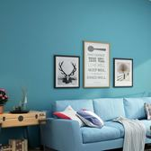 壁紙服裝店純色素色無紡布自粘墻紙宿舍貼紙北歐墨綠色【不二雜貨】