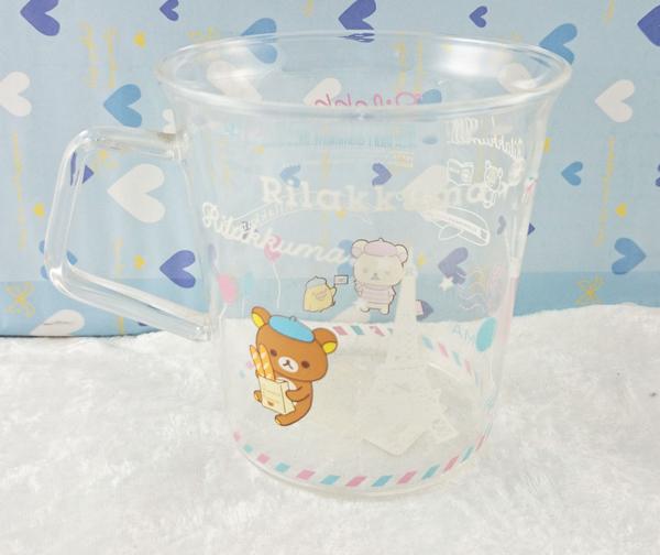 【震撼精品百貨】Rilakkuma San-X 拉拉熊懶懶熊~玻璃杯-氣球/透明#52439