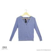 【INI】實穿舒適、美好坑條織紋針織外套.灰色