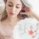 耳環 和風櫻花日式不對稱耳針/夾式耳環-Ruby s 露比午茶