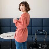 CANTWO拋袖附腰帶造型長版上衣-共兩色