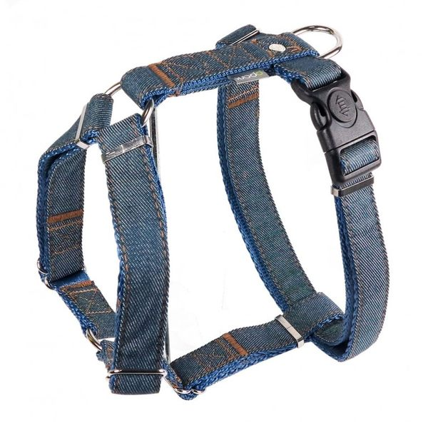*~寵物FUN城市~*PPARK《牛仔布系列》愛犬用 H型胸背帶【XS號】 (胸帶,台灣製造,品質安心)
