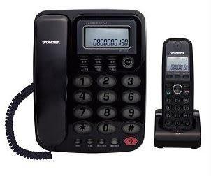WONDER 旺德2.4GHz高頻數位無線電話 WT-D02子母機 (黑、紅、白三色)