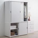 衣櫥 衣櫃 臥室 【收納屋】巴爾推門衣櫥+電動起子 & DIY組合傢俱