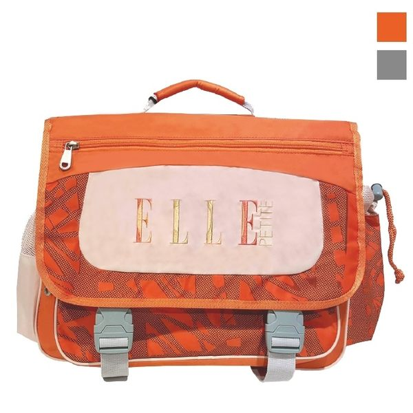 Backbager 背包族【ELLE Petite】輕量熱帶雨林系列書包/後背書包/背包/橫式書包 橘色/灰色