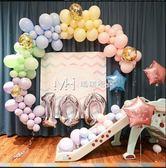 七夕情人節  派對氣球裝飾馬卡龍波紋海報滿月布置數字鋁箔氣球  『歐韓流行館』
