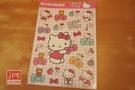 Hello Kitty 凱蒂貓 可愛造型大貼紙 透明貼紙 點點蝴蝶結 952767