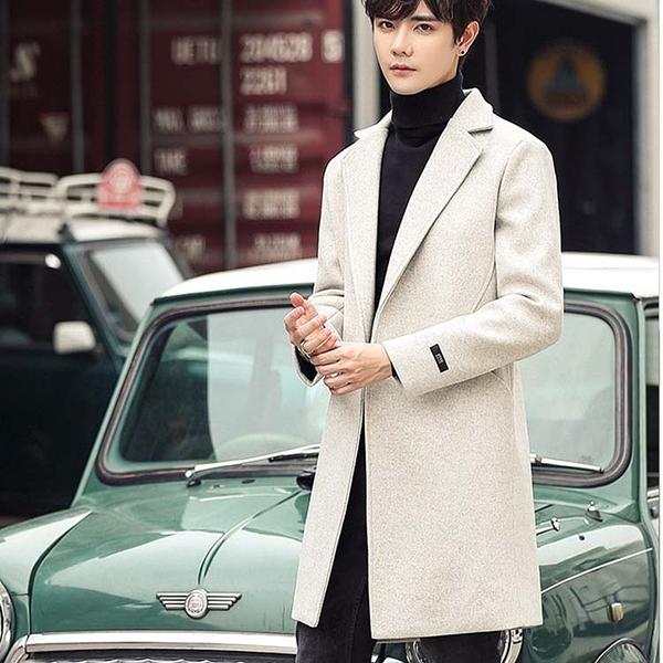 潮流時尚韓版大衣風格百搭男款大衣外套