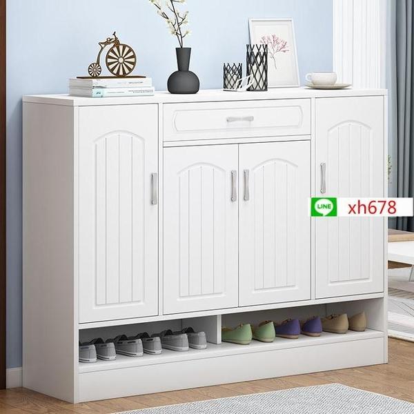 家用門口鞋櫃大容量玄關櫃鏤空簡約現代進門口鞋櫃收納樓梯口鞋架【頁面價格是訂金價格】