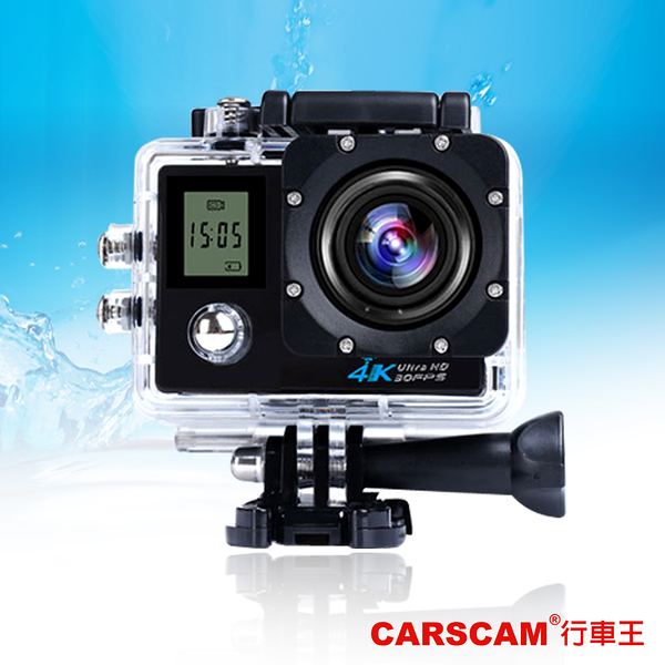 CARSCAM行車王 4K WIFI 雙螢幕防水極限運動攝影機(附專用搖控器)