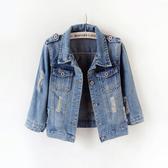 2020春夏新款韓版修身破洞七分袖牛仔外套女短款大碼學生上衣夾克