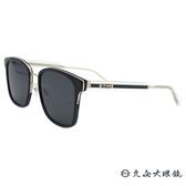 GUCCI 太陽眼鏡 GG0563SK (黑透明-綠邊) 方框 墨鏡 久必大眼鏡