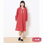 CHUMS 日本 女 Keystone Sweat 連帽磨毛洋裝 紅 CH181088R008