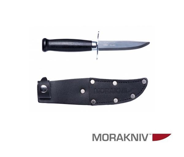 丹大戶外用品【MORAKNIV】瑞典 CLASSIC SCOUT 39 SAFE 經典木柄不鏽鋼短直刀 黑 12480