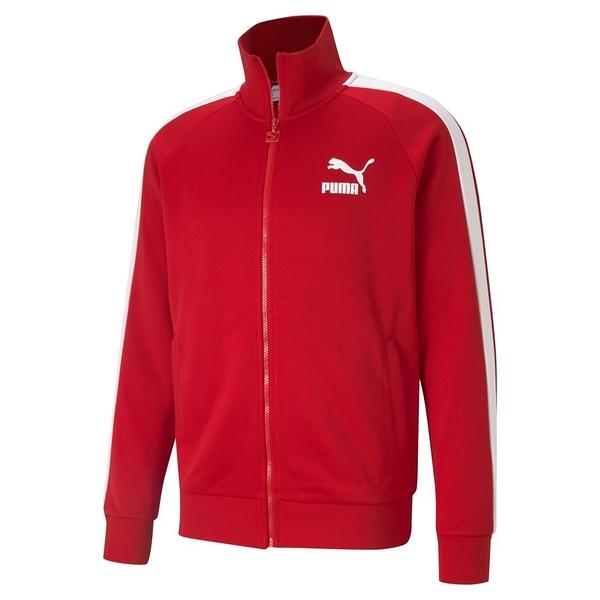 PUMA 男款紅色流行系列 T7立領外套-NO.53009411