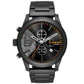 【萬年鐘錶】DIESEL 軍事風 霸氣 三眼 計時碼錶 黑+迷彩錶面 黑+迷彩殼  超大錶徑 52mm DZ4469