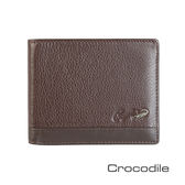 Crocodile Classic 經典系列荔紋軟皮短夾   0103-3352