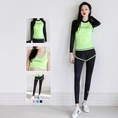 瑜珈服運動套裝(三件套)-時尚拼色戶外慢跑女健身衣5色73mt26【時尚巴黎】