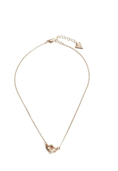 美國 Guess 銀色/金色 雙心項鍊 浪漫時尚流行精品款 限量特價 送禮最佳禮物