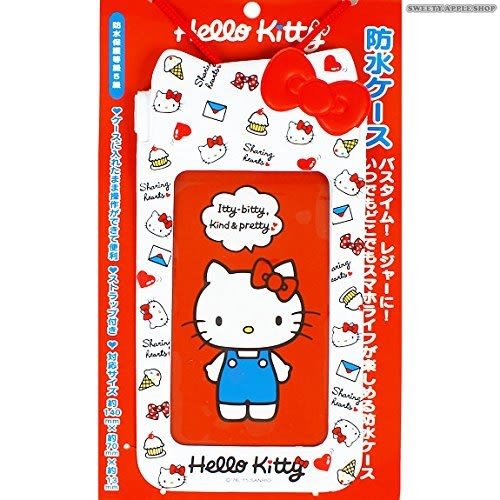 日本限定 三麗鷗 HELLO KITTY 滿版甜點風  防水智能手機套 IPX5