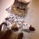 寵物潮牌秋冬款網紅狗狗風衣雨衣貓咪比熊雪瑞納斗牛泰迪小型衣服