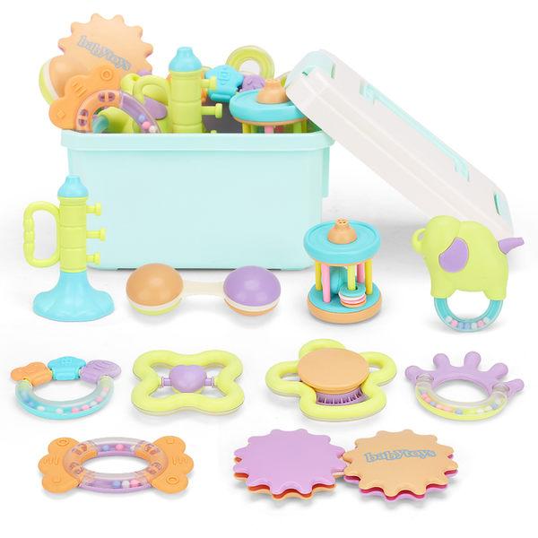 新生嬰兒玩具手搖鈴水煮牙膠0-3-6-12個月寶寶幼兒女孩0-1歲益智【全館鉅惠85折】
