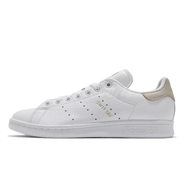 adidas 休閒鞋 Stan Smith W 白 紅 女鞋 金標 皮革 後跟不同色 小白鞋 運動鞋【ACS】 FY9202