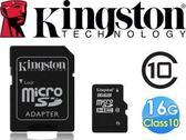 Kingston 金士頓 16G記憶卡micro SDHC C10 16GB TF高速卡 SD轉卡