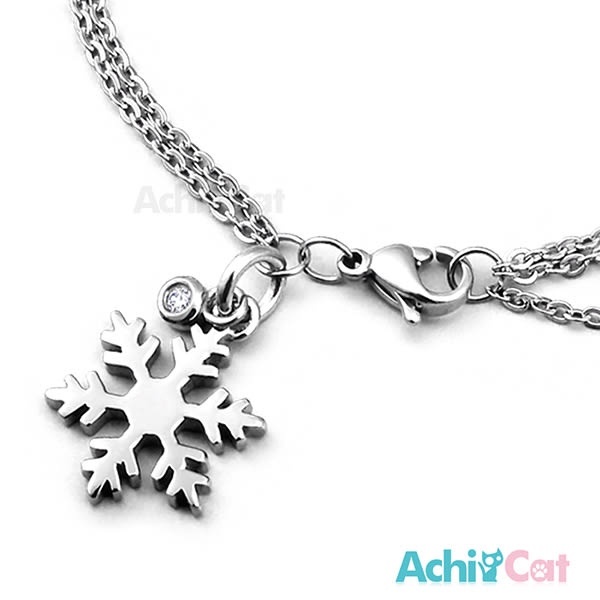 鋼手鍊 AchiCat 珠寶白鋼 晶亮雪花