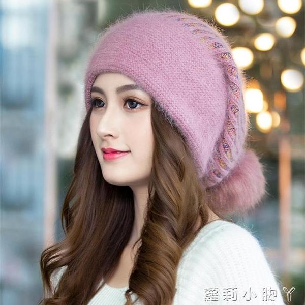 冬季帽子女冬天韓版貝雷帽加絨護耳保暖毛線帽秋冬百搭時尚針織帽 蘿莉新品