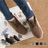 短靴。*鵲兒*毛布質感內裡格紋布個性男孩款短靴 現貨【M573】