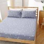 [SN]#U081#細磨毛天絲絨6x6.2尺雙人加大床包+枕套三件組-台灣製(不含被套)