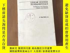 二手書博民逛書店LINEAR罕見SYSTEM FUNDAMENTALS Continuous and Discrete,Class