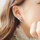 無耳洞耳環一對 新款韓系鑲鑽水滴形狀鋯石...