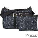 LeSportsac - Standard 雙口袋A4大書包-附化妝包 (黑貓與鳥) 7507P E425
