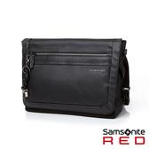 Samsonite RED GLENDALEE 運動時尚網眼舒適附腰帶郵差包(黑)
