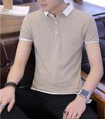 短袖襯衫-夏季新款男士短袖T恤襯衫領半袖POLO衫青年潮流上衣男裝衣服 東川崎町