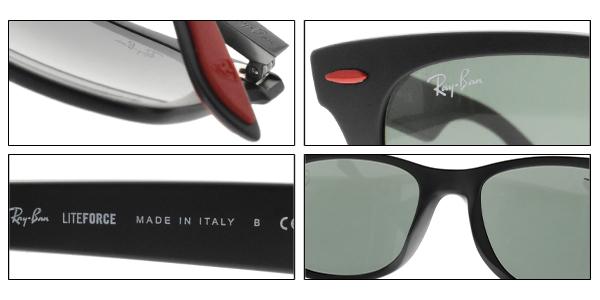 RayBan偏光太陽眼鏡RB4195MF F60271 (霧黑-綠鏡片) 法拉利聯名款 # 金橘眼鏡