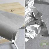 造型面料 銀灰色水洗紙硬杜邦紙牛皮紙撕不爛包袋設計硬挺造型創意服裝布料-凡屋
