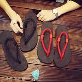 春季情侶人字拖越南風夾腳趾涼鞋簡約室外防滑拖鞋休閒百搭厚底女「千千女鞋」