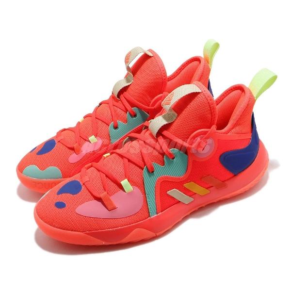 adidas 籃球鞋 Harden Stepback 2 橘紅 藍 黃 彩色 哈登 男鞋 子系列【ACS】 FZ1077
