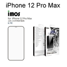 【IMOS】2.5D滿版人造藍寶石玻璃保護貼 iPhone 12 Pro Max (6.7吋) 防塵網版