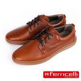 【ferricelli】Outback網格壓紋牛皮綁帶男仕休閒鞋  咖啡(F51403-BR)