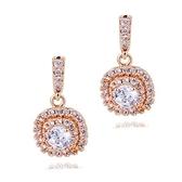 耳環 925純銀鑲鑽-大方流行情人節生日禮物女耳針2色73gt204【時尚巴黎】