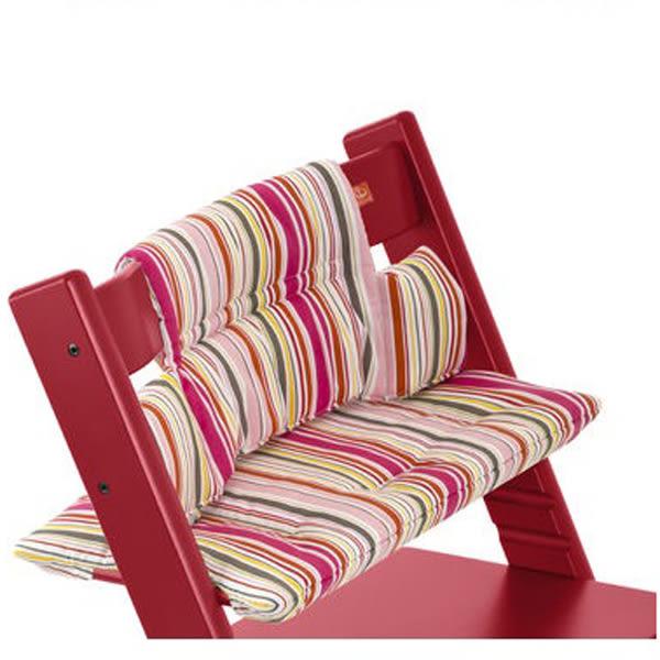 Stokke Tripp Trapp 成長椅座墊-粉菱格紋