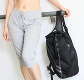 運動桶包休閒雙肩包健身包籃球包足球包便攜抽繩袋羽毛球袋游泳 歐韓流行館
