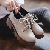英倫風女鞋復古韓版百搭單鞋加絨中跟粗跟小皮鞋女 歐韓流行館