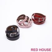 Red House 蕾赫斯-簡約素色細皮帶(共3色)