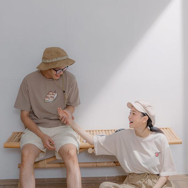 Queen Shop【01038584】日式章魚燒圓領印圖TEE 1/2*現+預*