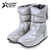 PolarStar 女 保暖雪鞋│雪靴│冰爪 『銀』P13621 (內厚鋪毛/ 防滑鞋底) 雪地靴.雪地必備